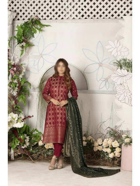 TAWAKKAL FABRICS by Amna Sohail Exclusive Cotton Cambric Banarsi Collection ASECBC V-03 D-09