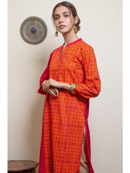 Zeen Woman Merak Winter Pret 1 PC Stitched Shirt - Cambric Printed WA193020-Red