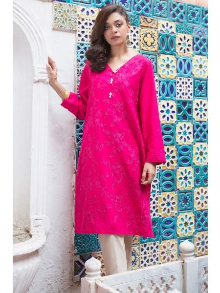 Zeen Woman Merak Winter Pret 1 PC Stitched Shirt - Self Jacquard WA194006-Hot-Pink