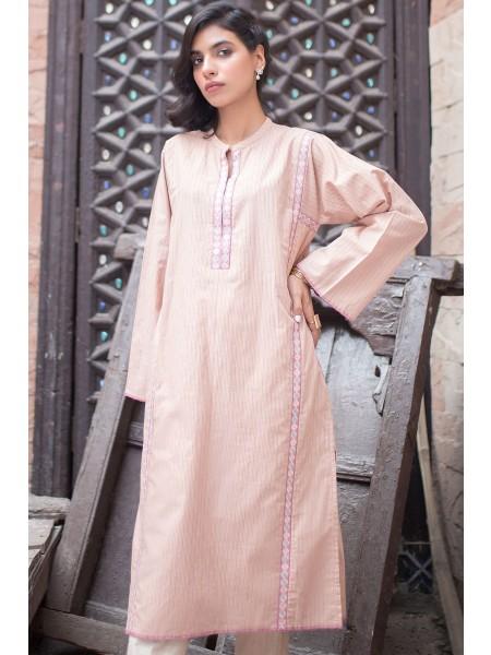 Zeen Woman Merak Winter Pret 1 PC Stitched Shirt - Yarn Dyed WA194043-Peach