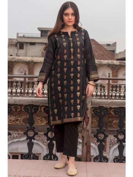 Zeen Woman Merak Winter Pret Stitch 1 Piece Yarn Dyed Weave Jacquard WL195040-Black