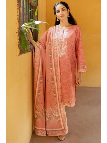 Zeen Woman Merak Winter Pret Stitch 3 Piece Printed Linen Viscose WL395024-Powder-Pink
