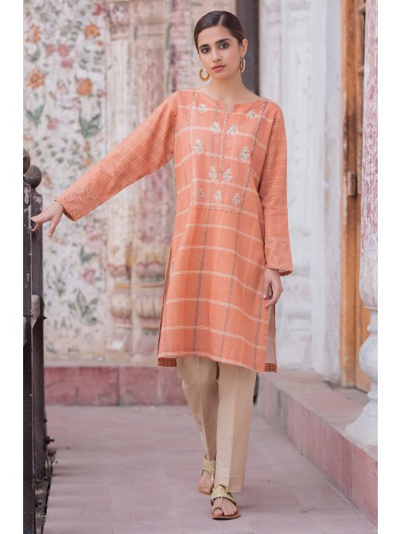 Zeen Woman Merak Winter Pret Stitched 1 Piece Digital Embroidered Cambric WL195032-Peach