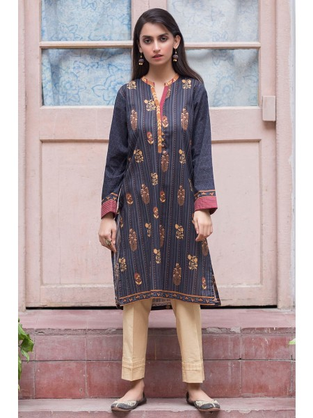 Zeen Woman Merak Winter Pret Stitched 1 Piece Digital Printed Cambric WL195027-Black