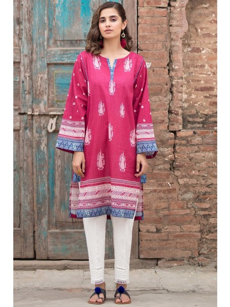 Zeen Woman Merak Winter Pret Stitched 1 Piece Digital Printed Cambric WL195028-Pink