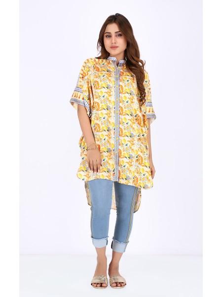 Zellbury Fabric By Meter Honey Gold - 1 Piece - Viscose shirt ZWROT19209