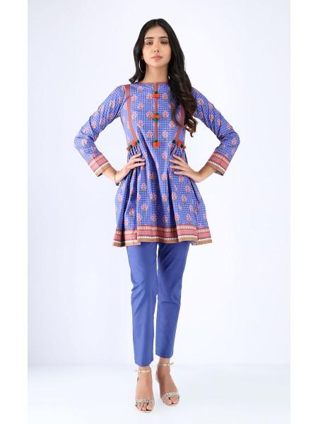 Zellbury Fabric By Meter Moody Blue - 1 Piece - Cambric shirt ZWROT19101