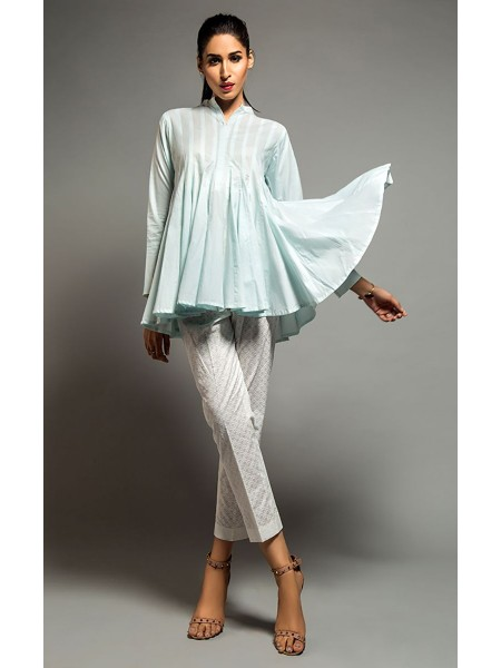 Zellbury Fabric By Meter Nightingale - 1 piece - Lawn shirt ZWROT18014-Standard-White Paste