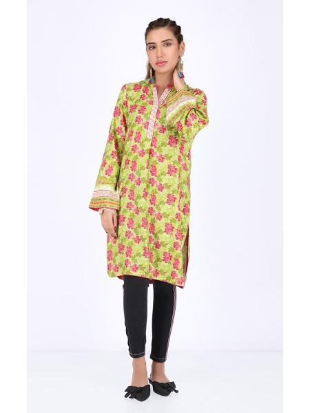 Zellbury Fabric By Meter Olive Green - 1 Piece - Viscose shirt ZWROT19214