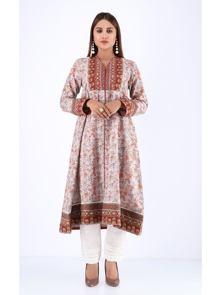 Zellbury Fabric By Meter Oyster Pink - 1 Piece - Khaddar shirt ZWROT1919