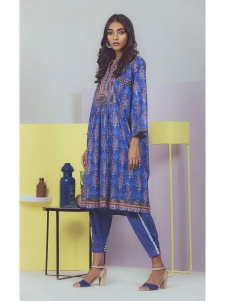 Zellbury Fabric By Meter Resolution Blue - 1 piece - Lawn shirt ZWROT19077