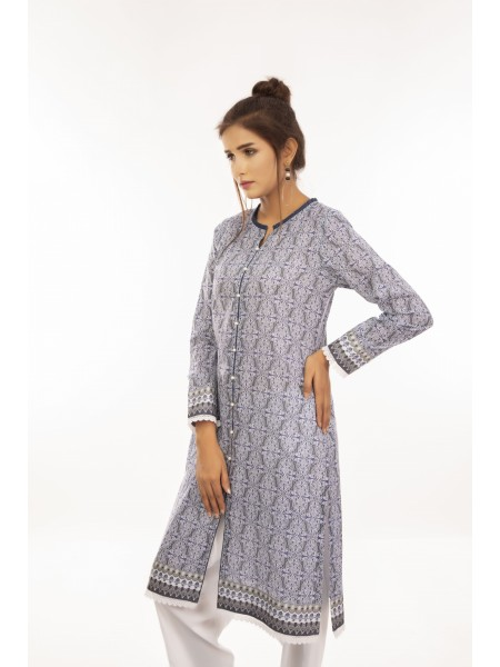 Zellbury Fabric By Meter Shady Lady Grey - 1 Piece - Lawn Shirt ZWROT19041-C