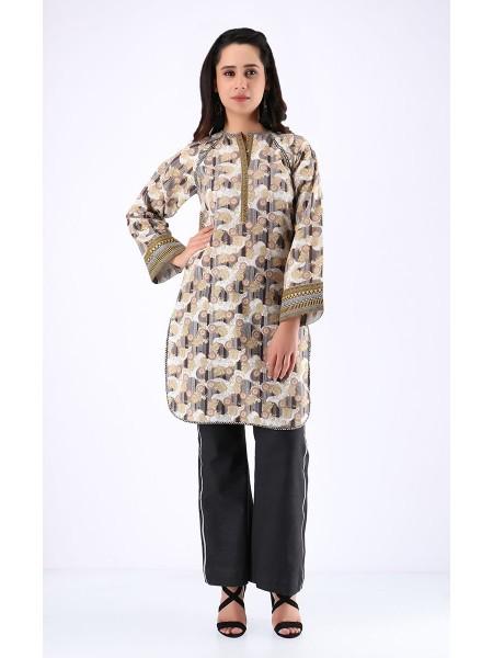 Zellbury Fabric By Meter Vanilla Brown - 1 Piece - Khaddar shirt ZWROT19118