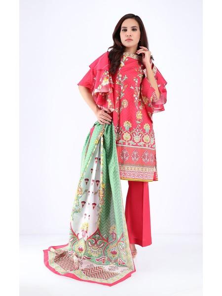 Zellbury Pre Spring Shirt Dupatta - Carnation Pink - Cambric Suit ZWUWC318057