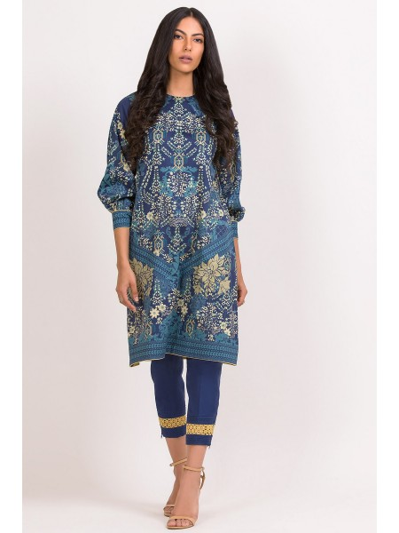 Alkaram Studio SS20 Collection 2 Piece Printed Suit With Dyed Cambric Trouser SS-19.1-20-Blue