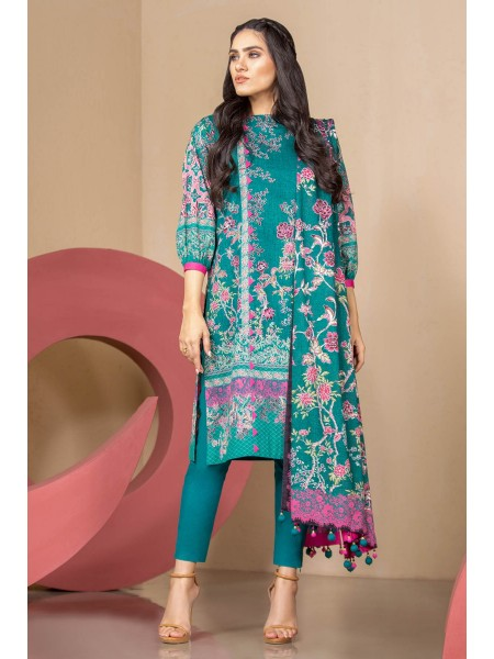Alkaram Studio SS20 Collection 2 Piece Printed Suit With Printed Lawn Dupatta SS-23.1-20-Green