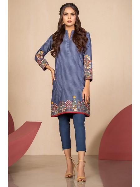 Alkaram Studio SS20 Collection Embroidered Denim Shirt SS-29.1-20-Blue