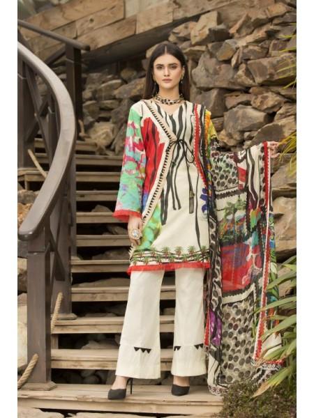 BC-03 - SAFWA BELLA COLLECTION VOL 1- Digital Printed 3-Piece Dress 2020