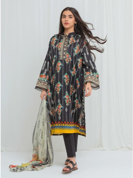 BeechTree Spring Summer20 Unstitched Collection Black Breeze - 3 Piece BT1S20U26-MIX-2000000136402-3P