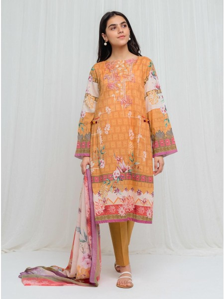 BeechTree Spring Summer20 Unstitched Collection Celosia Orange - 3 Piece BT1S20U32-MIX-2000000136408-3P