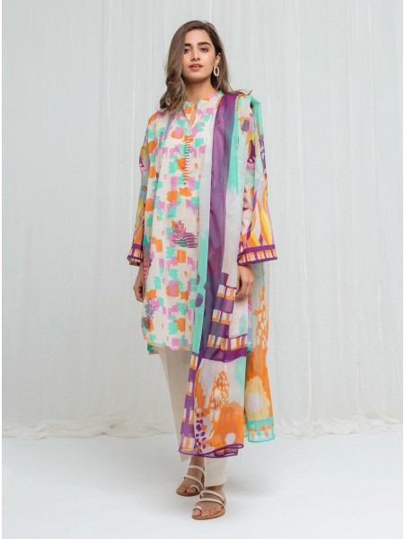 BeechTree Spring Summer20 Unstitched Collection Color Collage - 3 Piece BT1S20U37-MIX-2000000136413-3P