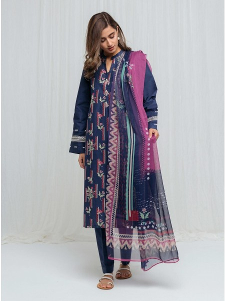 BeechTree Spring Summer20 Unstitched Collection Night Of Navy - 2 Piece BT1S20U50-MIX-2000000136426-2P