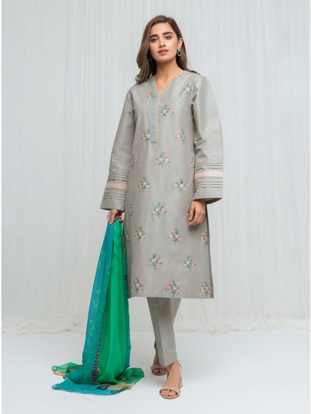 BeechTree Spring Summer20 Unstitched Collection Repose Grey - 2 Piece BT1S20U46-MIX-2000000136422-2P