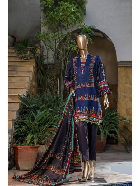 BIN SAEED Fariha & Farah Naz Unstitched Lawn Design-15
