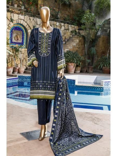 BIN SAEED Fariha & Farah Naz Unstitched Lawn Design-17