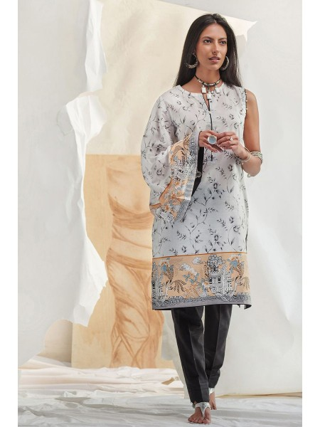 Gul Ahmed Summer Lawn20 1PC Unstitched Embroidered Lawn Shirt SL-686