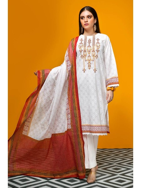 Gul Ahmed Summer Lawn20 2PC Unstitched Embroidered Lawn Suit TL-240 A