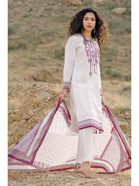 Gul Ahmed Summer Lawn20 2PC Unstitched Embroidered Lawn Suit TL-240 B