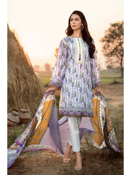Gul Ahmed Summer Lawn20 2PC Unstitched Embroidered Lawn Suit TL-246 A