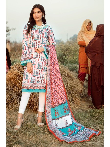 Gul Ahmed Summer Lawn20 2PC Unstitched Embroidered Lawn Suit TL-246 B