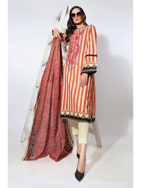 Gul Ahmed Summer Lawn20 2PC Unstitched Embroidered Lawn Suit TL-251 A