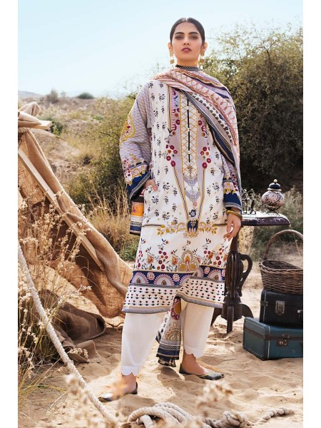 Gul Ahmed Summer Lawn20 2PC Unstitched Embroidered Lawn Suit TL-256 B