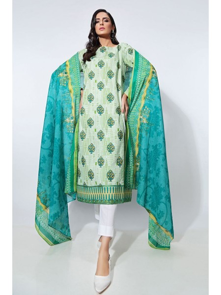 Gul Ahmed Summer Lawn20 2PC Unstitched Embroidered Lawn Suit TL-258 B