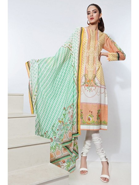 Gul Ahmed Summer Lawn20 2PC Unstitched Embroidered Lawn Suit TL-265 A