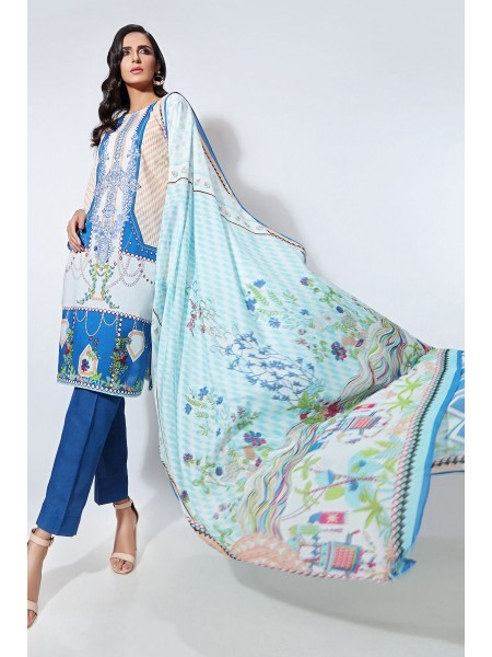 Gul Ahmed Summer Lawn20 2PC Unstitched Embroidered Lawn Suit TL-265 B