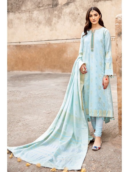 Gul Ahmed Summer Lawn20 3 PC Unstitched Embroidered Jacquard Suit MJ-35