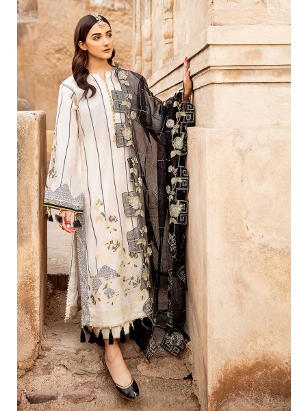 Gul Ahmed Summer Lawn20 3 PC Unstitched Embroidered Jacquard Suit with cotton net dupatta MJ-39