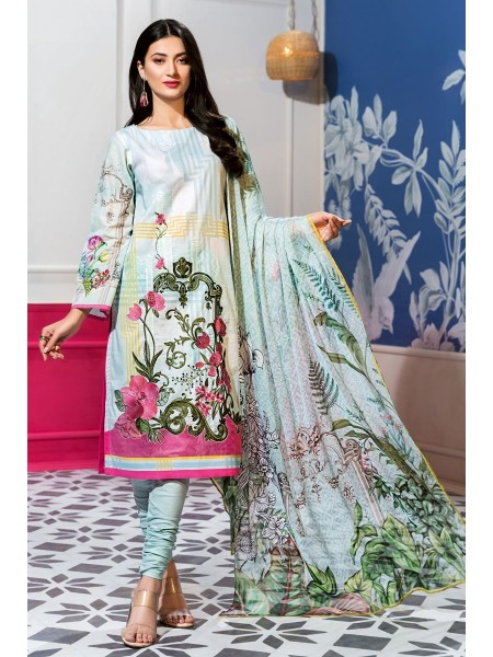 Gul Ahmed Summer Lawn20 3 PC Unstitched Embroidered Lawn Suit with Chiffon Dupatta BM-137