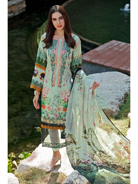 Gul Ahmed Summer Lawn20 3 PC Unstitched Embroidered Lawn Suit with Tissue Silk Dupatta SSM-26