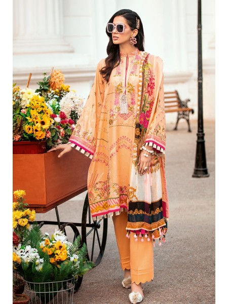 Gul Ahmed Summer Lawn20 3 PC Unstitched Embroidered Lawn Suit with Tissue Silk Dupatta SSM-35