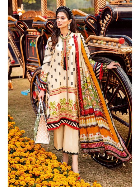Gul Ahmed Summer Lawn20 3 PC Unstitched Embroidered Lawn Suit with Tissue Silk Dupatta SSM-36