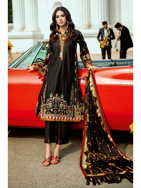 Gul Ahmed Summer Lawn20 3 PC Unstitched Embroidered Lawn Suit with Tissue Silk Dupatta SSM-37