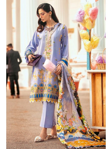 Gul Ahmed Summer Lawn20 3 PC Unstitched Embroidered Lawn Suit with Tissue Silk Dupatta SSM-39
