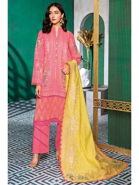 Gul Ahmed Summer Lawn20 3 PC Unstitched Swiss Voile Suit LSV-34