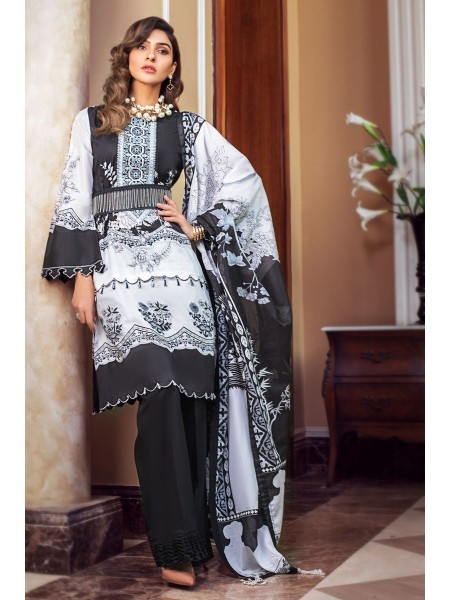 Gul Ahmed Summer Lawn20 3PC Unstitched Embroidered Lawn Suit B-60