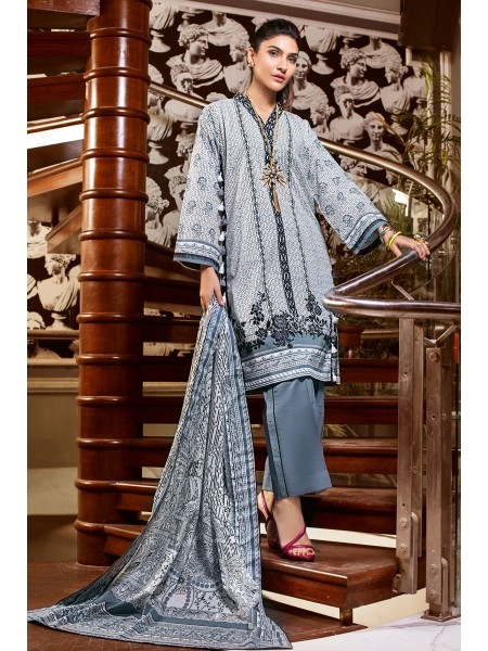 Gul Ahmed Summer Lawn20 3PC Unstitched Embroidered Lawn Suit B-62